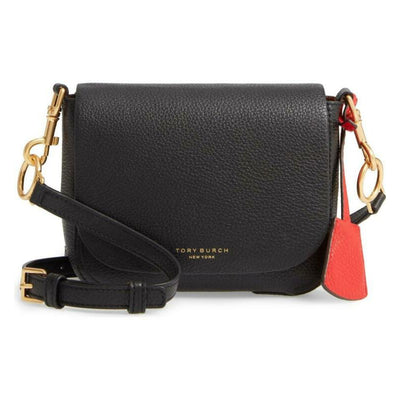 Tory Burch Crossbody Perry Black Calfskin Leather Shoulder Bag