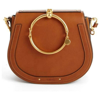 Chloé Nile Medium Bracelet Saddle Brown Leather Cross Body Bag