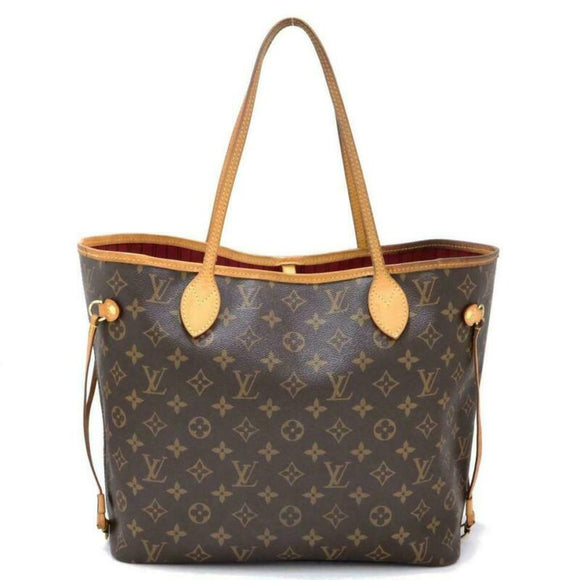Louis Vuitton Neverfull Neo Mm Pivoine Pink Interior Brown Monogram Canvas Tote