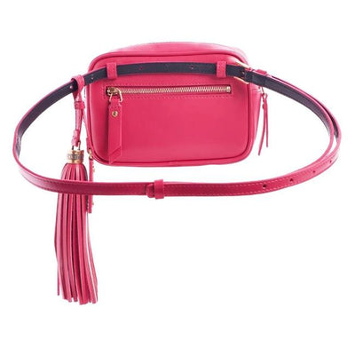 Saint Laurent Belt Lou Quilted Tassels Size 85 Pink Leather Cross Body Bag
