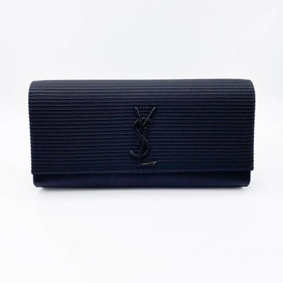 Saint Laurent Cassandre Monogram Black Viscose Clutch