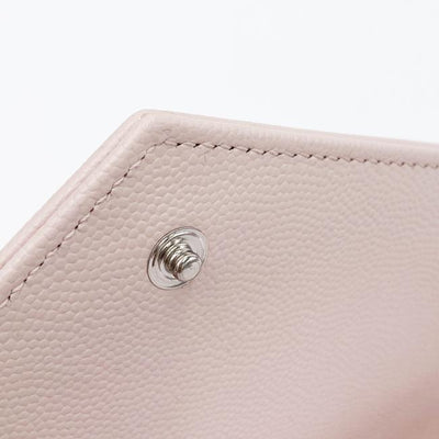 Saint Laurent Chain Wallet Medium Pale Monogram Pink Leather Shoulder Bag