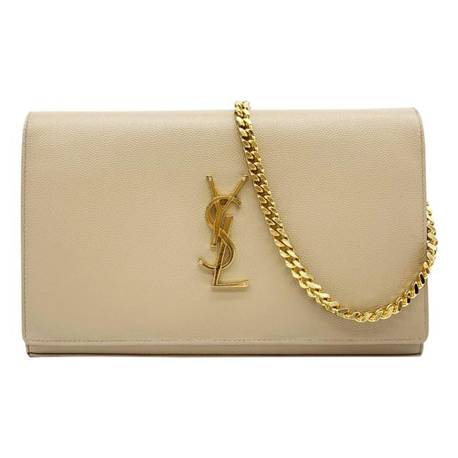 Saint Laurent Chain Wallet Medium Woc Beige Leather Shoulder Bag