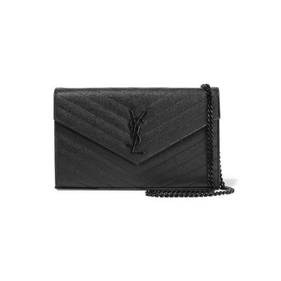 Saint Laurent Chain Wallet Monogram Medium Noir Black Leather Cross Body Bag