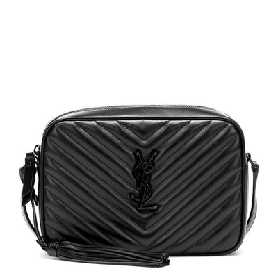 Saint Laurent Monogram Camera Lou Matelassé Calfskin Noir Black Leather Shoulder Bag