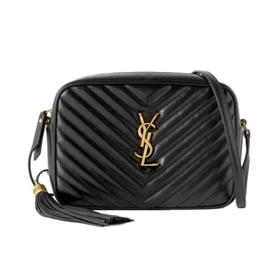 Saint Laurent Monogram Camera Lou Medium Quilted Black Leather Shoulder Bag