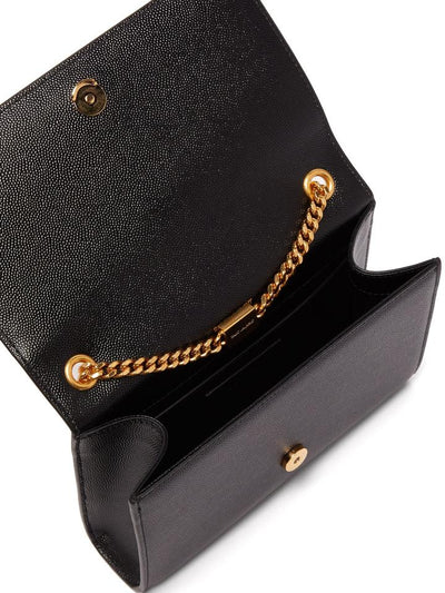 Saint Laurent Monogram Kate Grained Monogram Cross-body Black Leather Shoulder Bag