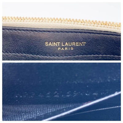 Saint Laurent Monogram Kate Pale Textured Grained Metallic Gold Leather Cross Body Bag