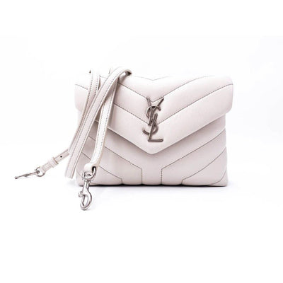 Saint Laurent Monogram Loulou Crossbody Calfskin Y Quilted Monogram Toy White Leather Shoulder Bag