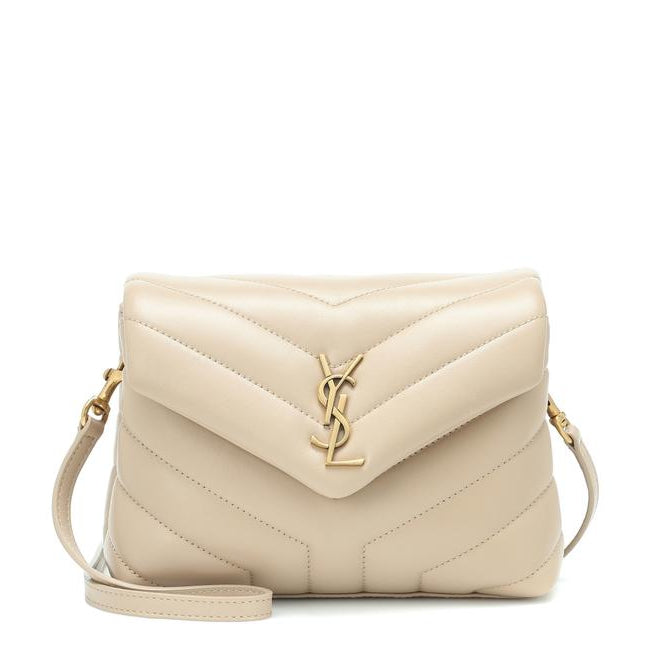 Saint Laurent Monogram Loulou Crossbody Mini Matelasse Beige Leather Shoulder Bag