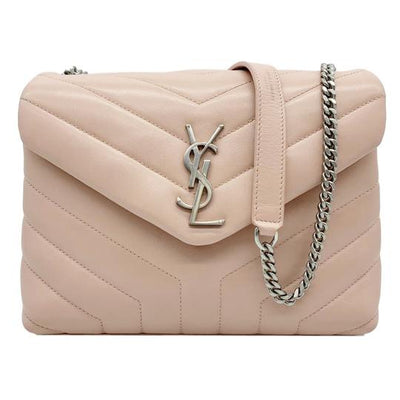 Saint Laurent Monogram Loulou Crossbody Small Monogram Chain Pink Leather Shoulder Bag