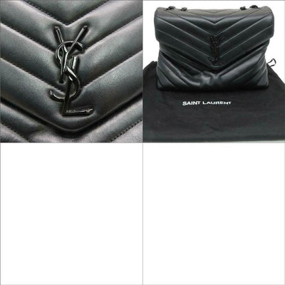 Saint Laurent Monogram Loulou Medium Matelasse Noir Bhw Black Leather Shoulder Bag