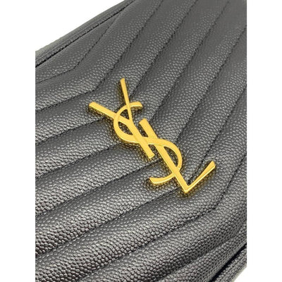 Saint Laurent Monogram Ysl Camera Black Leather Cross Body Bag