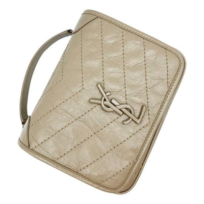 Saint Laurent Niki Beige Leather Cross Body Bag