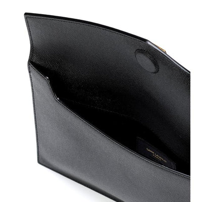 Saint Laurent Uptown Black Leather Clutch