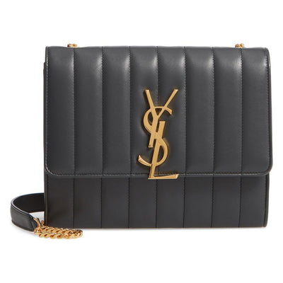 Saint Laurent Vicky Small Wallet On A Chain Black Leather Shoulder Bag