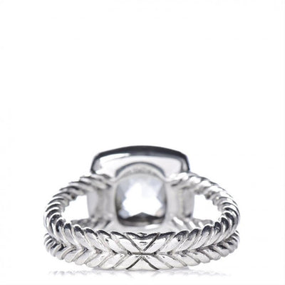 David Yurman Silver Sterling Diamond Prasiolite Albion Ring
