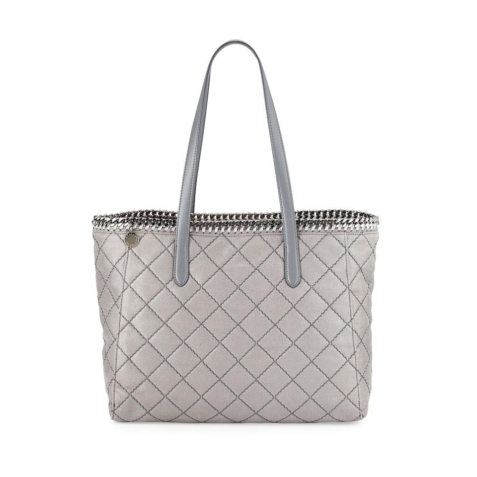 Stella McCartney Falabella East West Quilted Tote Light Grey Shopper