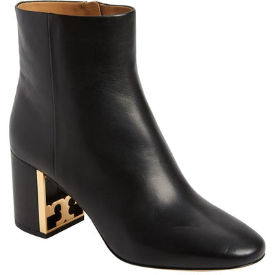 Tory Burch Black Gigi Logo Heel Boots/Booties