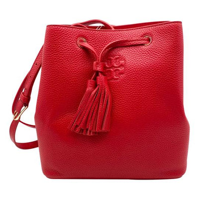 Tory Burch Bucket Bag Thea Red Leather Tote