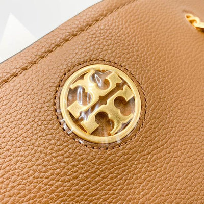 Tory Burch Carson Brown Leather Tote