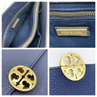Tory Burch Chelsea Royal Blue Leather Shoulder Bag