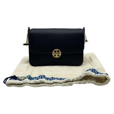 Tory Burch Crossbody Chelsea Black Leather Shoulder Bag