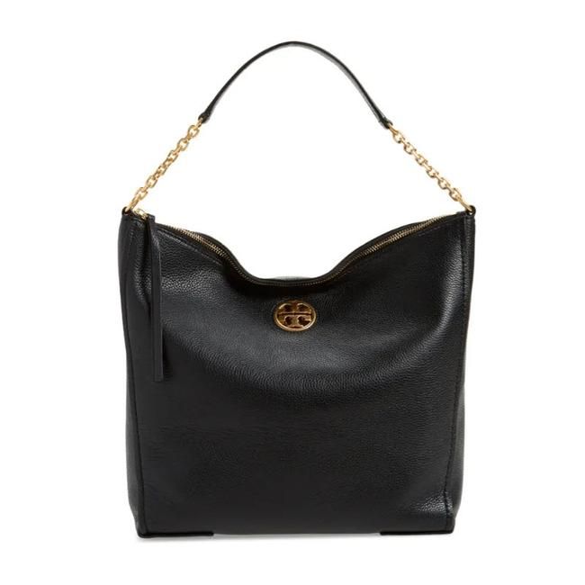 Tory Burch Hobo Carson Black Leather Tote
