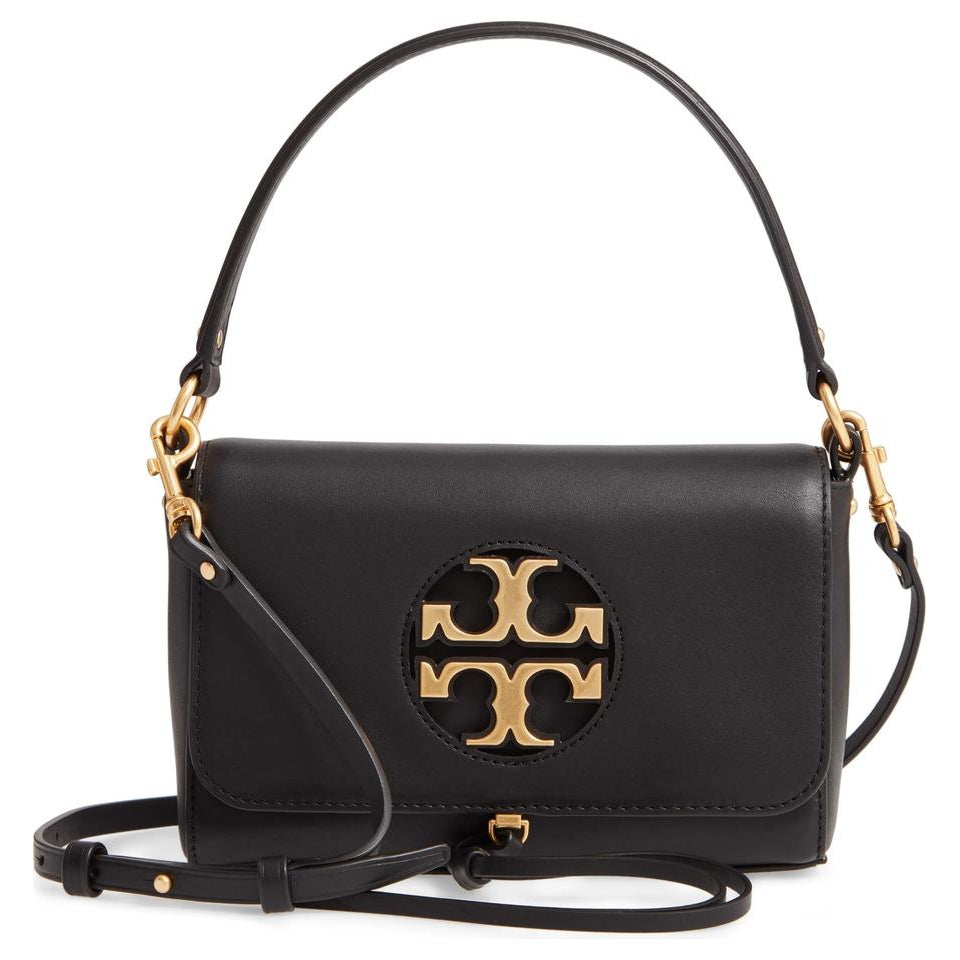Tory Burch Top Handle Mini Miller Black Leather Shoulder Bag