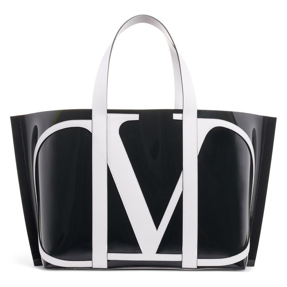 Valentino Large Escape V-logo Black Pvc Tote