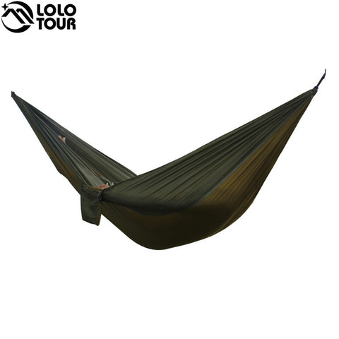**FREE SHIPPING** 24 Color 2 People Portable Parachute Hammock Camping Survival Garden Flyknit Hunting Leisure Hamac Travel Double Person Hamak