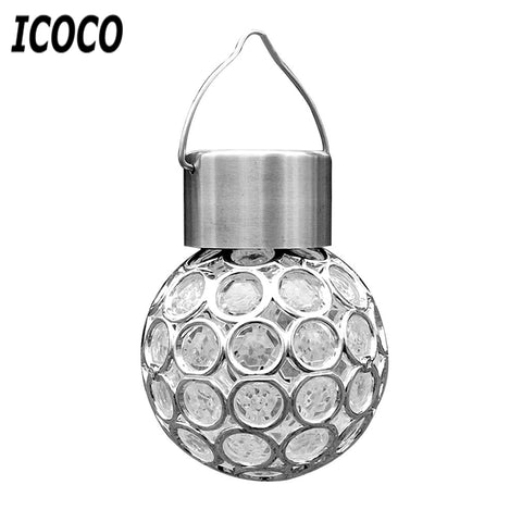 *FREE SHIPPING* ICOCO Outdoor Waterproof Solar LED Peacock Eye Hanging Light
