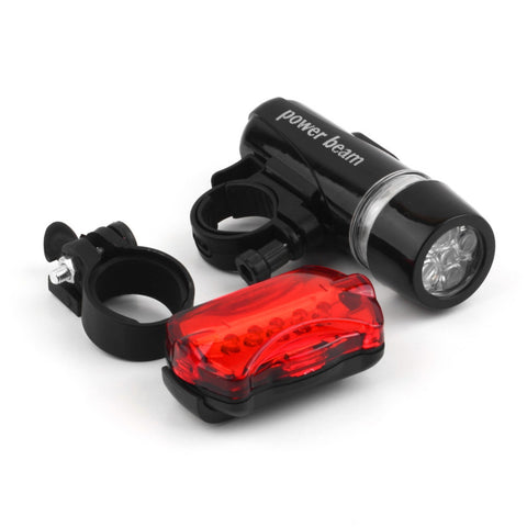 Wholesale Waterproof 5 LED Bike Bicycle Light Bike Bicycle Front Head Light Safety Rear Flashlight Torch Lamp Drop Shipping