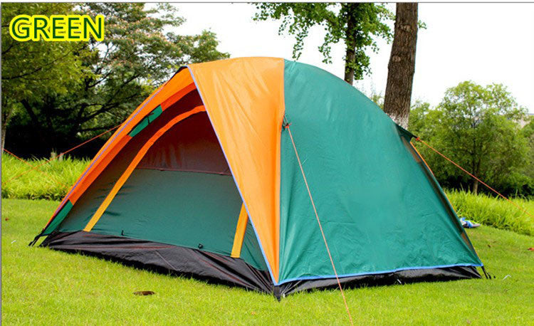 Best Seller Double Layer 3-4 Person Rainproof Outdoor C&ing Tent for Hiking Fishing Hunting Adventure Picnic Party & Best Seller Double Layer 3-4 Person Rainproof Outdoor Camping Tent ...