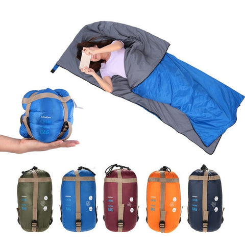 *FREE SHIPPING* LIXADA Outdoor Envelope Sleeping Bag Mini Ultralight Hiking Camping Nylon Sleeping Bags