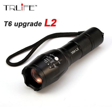 Tactical LED Flashlight with Cree XM-L2 LED for a MASSIVE 8000 lumens output