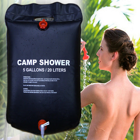** FREE SHIPPING TO U.S.** 20L Water Bag Foldable Solar Energy Heated Camp PVC Shower Bag