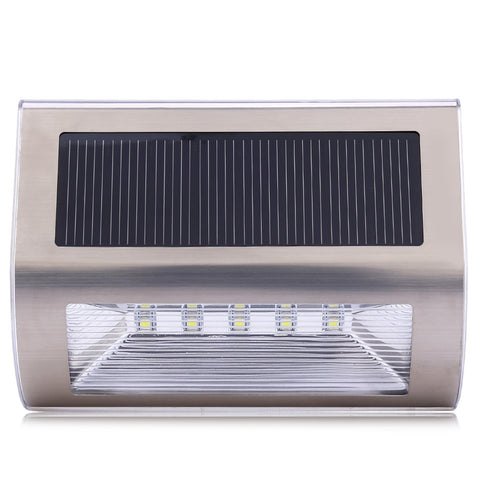 *FREE SHIPPING* LED Solar Power Stainless Steel Wall Light