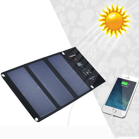 *FREE SHIPPING* High Quality 21W Portable Folding Solar Charger For Cellphones And Tablets Or iPads
