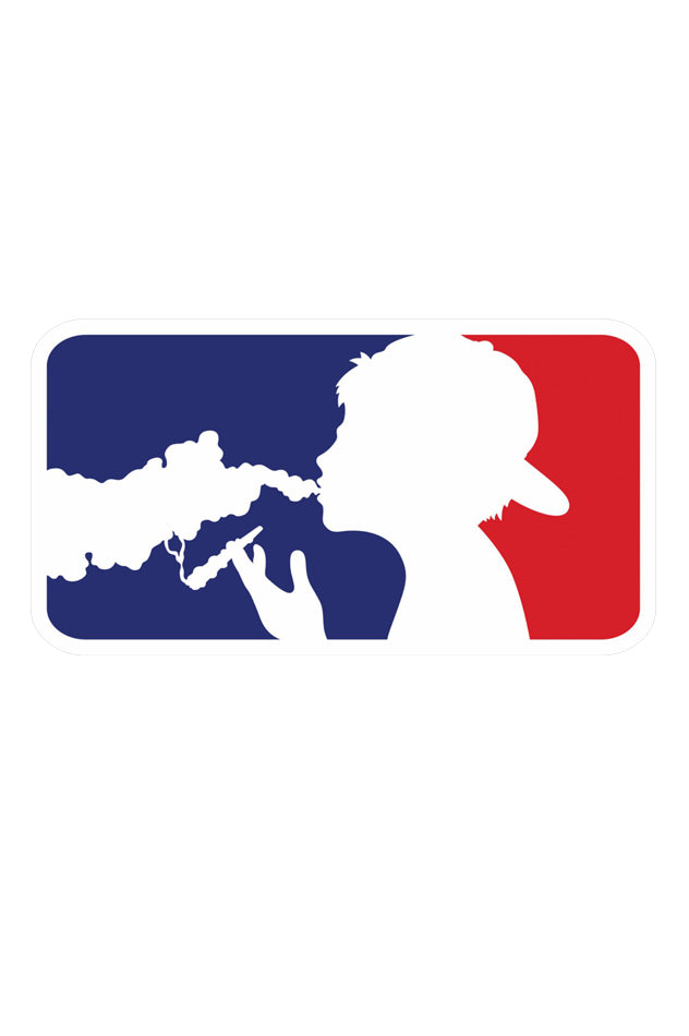Major League Smokers Logo Sticker