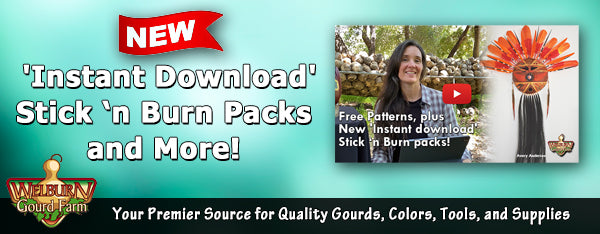 April 25, 2020: Free Patterns, plus New 'Instant download' Stick n Burn packs!