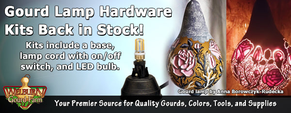 April 29, 2020: Lamp Hardware Is Back, Plus Craft-Ready Gourd Vases and More!