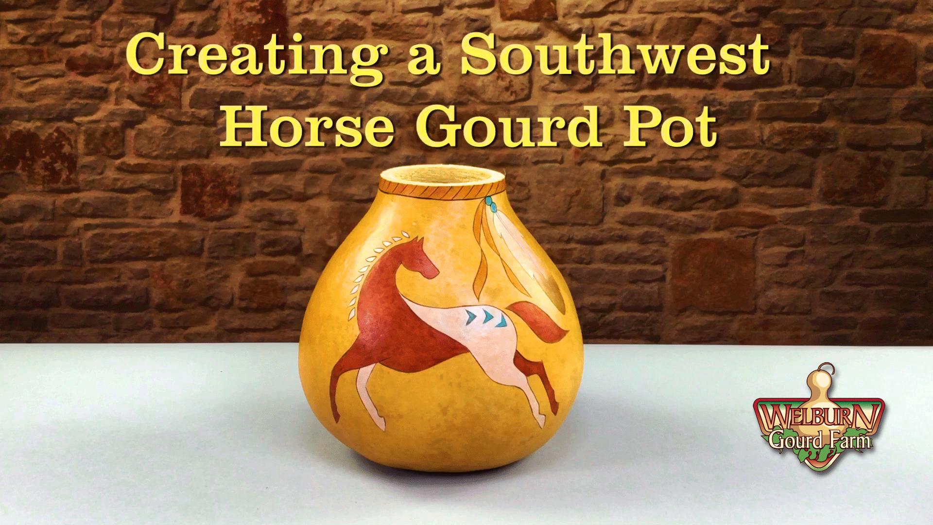 Creating a Southwest Horse Gourd Pot