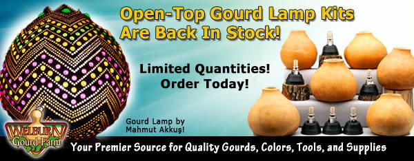 November 12, 2020: Gourd Lamp Kits back in Stock, Get Yours in Time for the Holidays!