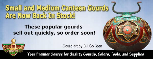 October 28, 2020: Our popular canteen gourds are back in stock!