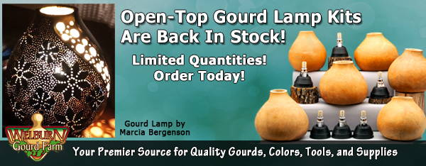 October 7, 2020: Gourd Lamp Kits Back in Stock, Plus Last Chance for People Gourds!