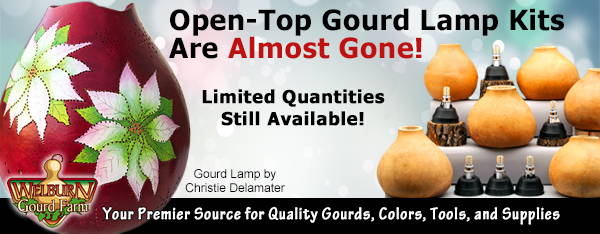 December 2, 2020: Gourd Lamp Kits and Hardware Selling Fast!