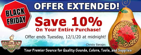 November 30, 2020: Offer Extended! Save 10% Off Your Entire Order!