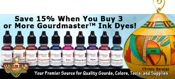 April 21, 2021: Save 15% on GourdMaster Ink Dyes!