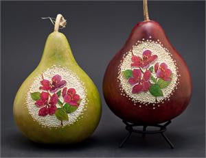 Gourd art by Mary Gehley